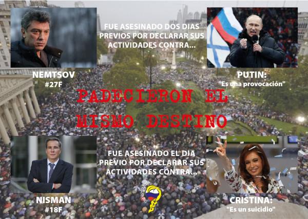 Nisman y Nemtsov: dos países, dos destinos