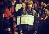Acción en el Festival Internacional de Cine de Derechos Humanos