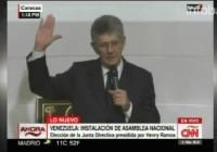 El opositor Henry Ramos Allup asumió como presidente de la Asamblea Nacional de Venezuela