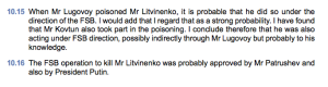 Parte de dos informes donde se señala a Putin de asesino y de pedófilo