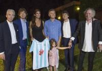 Sin curiosos ni cámaras a la vista, Macri comió un asado con los Rolling Stones