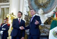 Peña Nieto apoya ante Macri el ingreso de Argentina a la OCDE