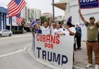 Miles de cubanos marcharon en Miami en apoyo a Trump