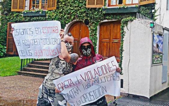 PROTESTA FRENTE A LA EMBAJADA DE IRÁN EN BUENOS AIRES